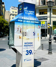 Telephone Booths Advertising in Spain